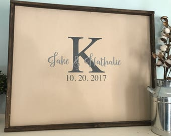 Giant Guest book Sign | Wedding guest book sign