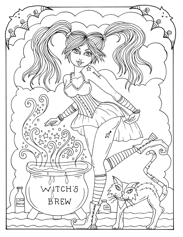 5 páginas de Brujas Sexy a Color instantánea descargar
