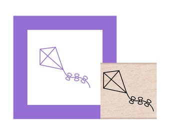Kite Rubber Stamp