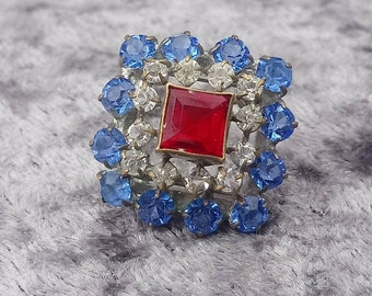Red White & Blue Vintage Pin Brooch