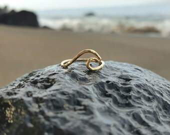 Wave Ring 14 Karat gold-filled by Mahina Spirit