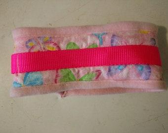 Pink coat saver collar