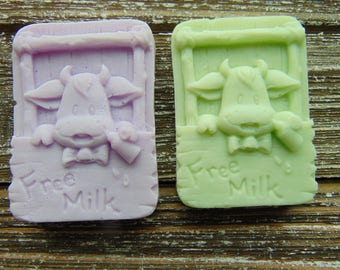 15 Baby calf soap favors {cow, milk, bar soap, baby shower}