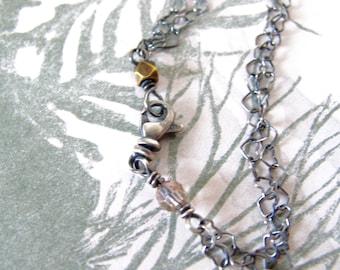 sweetheart bracelet - tiny heart link chain