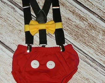 Mouse Birthday Outfit, First Birthday Cake Smash,  Mouse Birthday, PLEASE READ LISTING