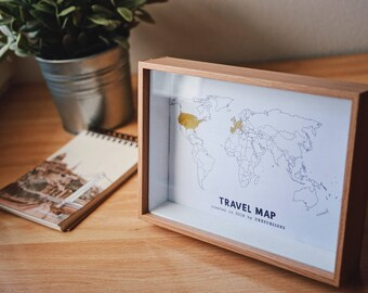 Digital TRAVEL MAP - Mark your trips
