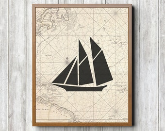 Sailboat 8 x 10 Printable