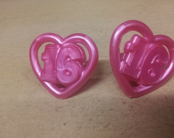 sweet 16 cupcake rings, cupcake rings, cupcake toppers, party favors, cake decorations,cake supplies
