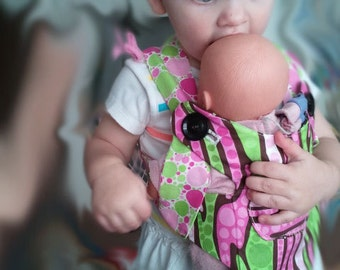 Children's baby doll carrier