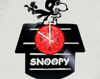 SNOOPY MOVIE vinyl record wall clock gifts for girls gift for kids gifts for boys snoopy gifts tshirt present alternative snoopy the best