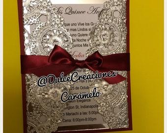 Elagntw Wedding Invitation or Quinceañeras