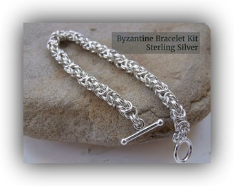 Bracelet Kit - Byzantine Chainmaille (Sterling Silver)
