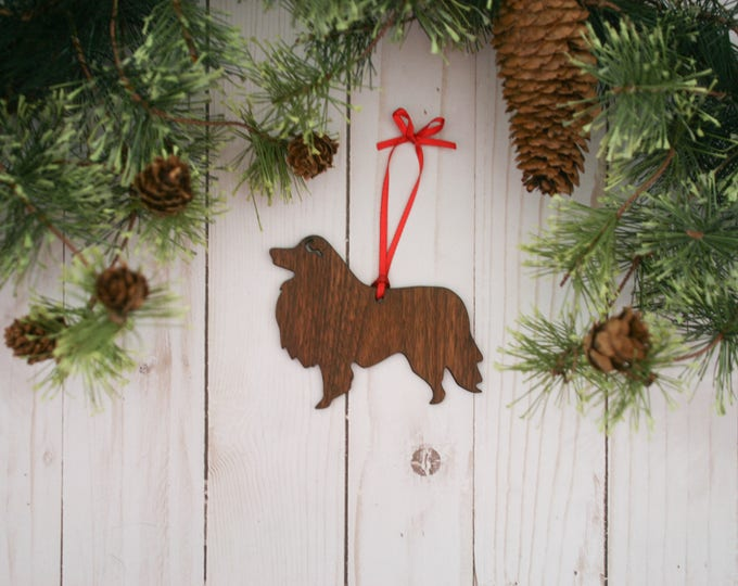Customizable Sheltie Dog Christmas Tree Ornament | Personalized Dog Ornament