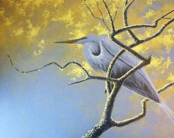 Original Great Egret Painting