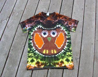 Brown Owl Tye Dye (Small) Adult Tie Dye Shirt OOAK