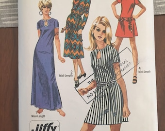 Vintage 70s Simplicity 8722 Sewing Pattern • size 10