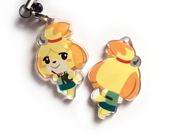 Isabelle Animal Crossing ACNL Reversible Acrylic Charm