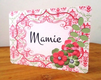 Customize card floral handmade Card Bubble