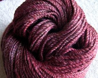 Berries  wool and silk Handspun Bulky 180 yards