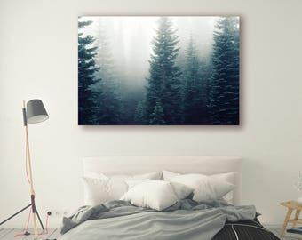 Foggy mountain Print, Large Wall Art Print, Fine Art Photography Print, Nature Photography, Neutral Wall Decor, Art, Decor, Forest, PH05