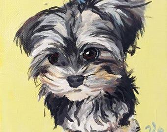 Custom Pet Portrait: 6 in by 6 in
