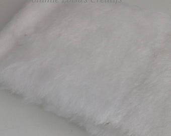 Fabric faux fur 150 x 10 snow white
