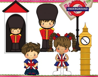 London Family Vacation 1 Clipart (Digital Download Zip File)