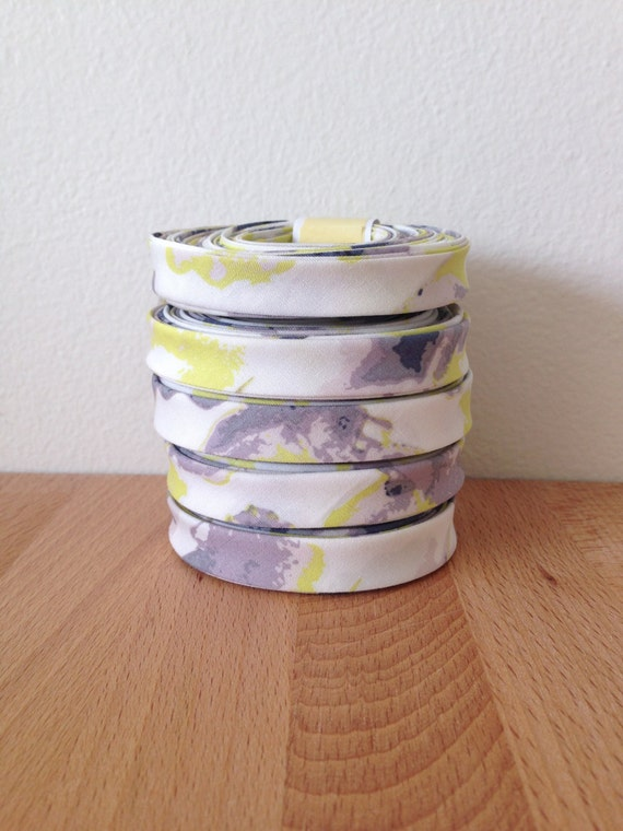 "Bias Tape- Luxe in Bloom Cascade Agate 1/2"" double-fold cotton binding- Art Gallery Fabrics- 3 yard roll"