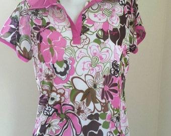 Vintage Kenzo See through blouse  / Kenzo Mesh Top Size S - M.