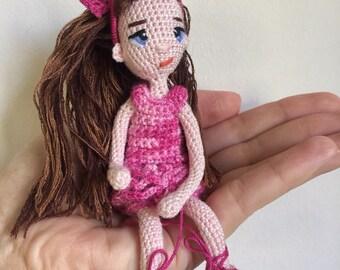 Crochet doll, amigurumi, wireframe
