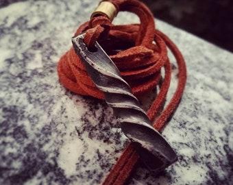 Viking pendant twisted steel