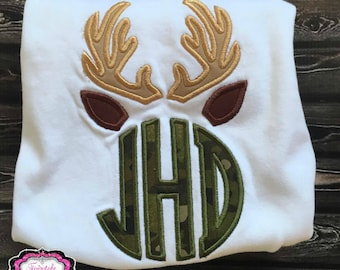Antler Birthday, Hunting Birthday, Camo Birthday, Camo Shirt, Deer Birthday, Deer Shirt, Antler Shirt, Boy Birthday Shirt