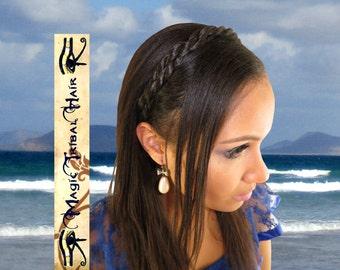 TWIST BRAID HEADBAND Boho Bride hair piece Wedding hair jewelry Bridesmaids hairband African American hair accessory Formal braided hairdo