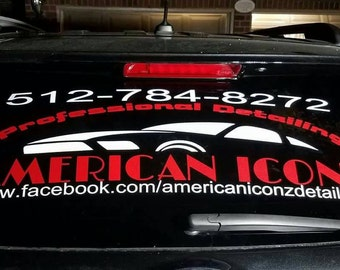 Business Car Decal Etsy - Custom vehicle window decals