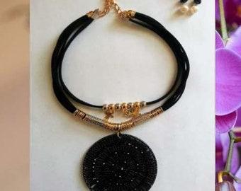 Black Mandala Necklace