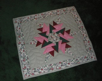 Floral Crystalz Table Topper Quilted Centrepiece