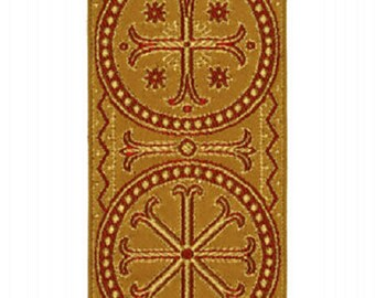 Yellow Gold religious trim for liturgical vestments