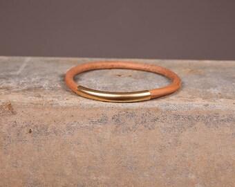 Leather bracelet, leather gold bracelet, Multi strand cuff, boho bracelet, bracelet for women, rustic bracelet, boho jewelry, Basic bracelet