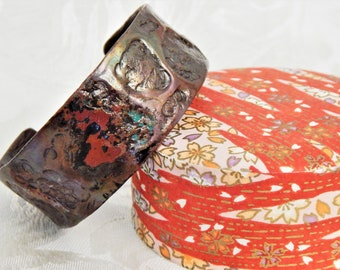 Air-Infused, Flame-Painted, Patina-ed Cuff