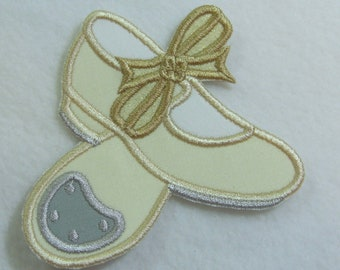 Tap Shoes Applique Fabric Embroidered Iron on Applique Patch Ready to Ship