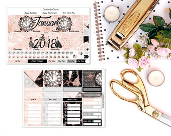 Custom Monthly View Kit for your Erin Condren Life Planner/Happy Planner
