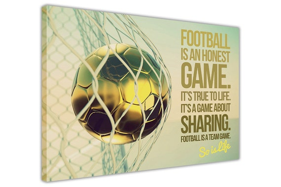 Inspirational Football Quote Canvas Prints Framed Wall Art
