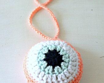 Crochet evil eye, Nursery decor, Nursery evil eye, Cute baby decor, Evil eye protector, Baby shower gift, Crochet nursery, Evil eye decor