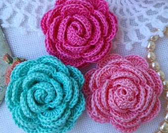 Crochet roses(3pcs)