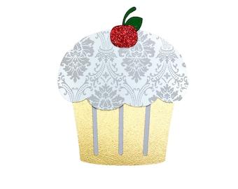 Cupcake Birthday Card, Handmade Birthday Card, Celebrate Card, Happy Birthday Card, Cupcake Card, Cupcake Greeting Card, Cupcake Party
