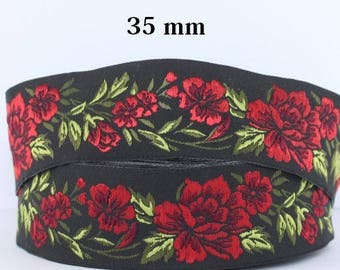 to order! 10 m couture lace embroidered Jacquard * 35 mm width