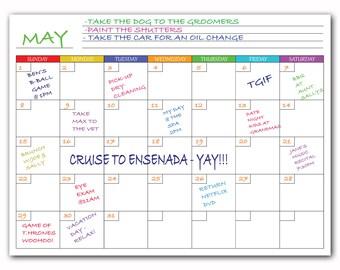 Magnetic Monthly Calendar White Board Dry Erase For Fridge