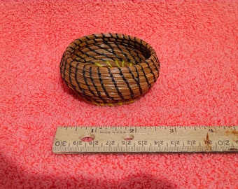 Small Black And Yellow Basket