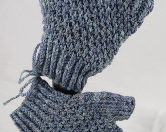 Grey-Blue Short Handwarmers
