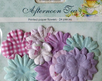 """24 flowers paper blossoms """"Afternoon Tea"""" ScrapBerry's new!"""